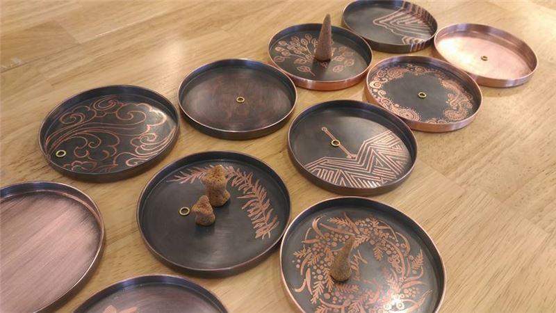 繪染銅盤1(課堂作品)