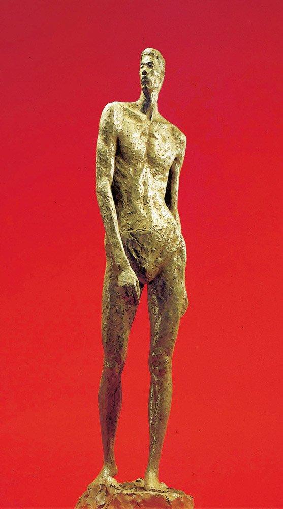 謝棟樑〈獨行〉1984 青銅 18.5×26×88 cm