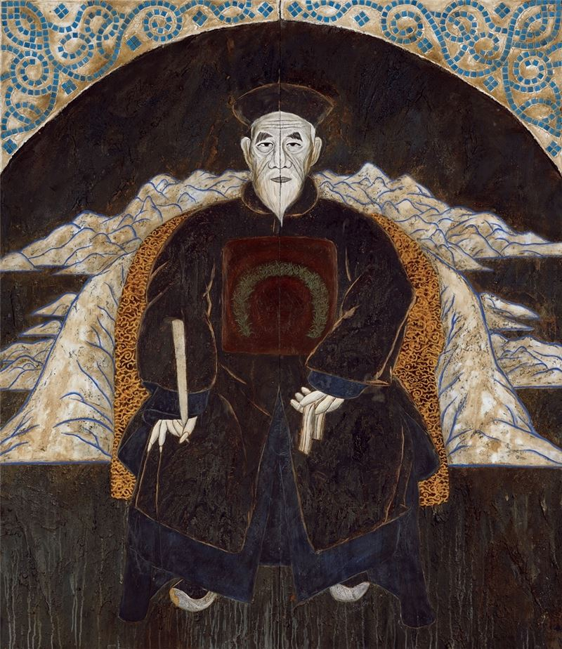 彭賢祥〈祥周公〉1996 綜合媒材 214×183.5 cm