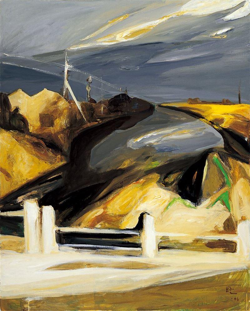 劉耿一〈流光〉1996 油彩、畫布 101×129.5 cm