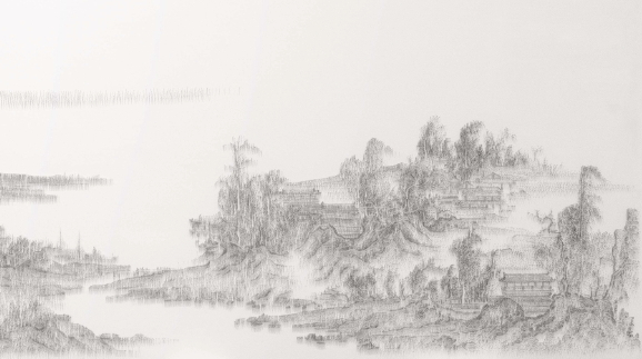 CHEN Chun-Hao〈Imitating Landscape with Pavilions by Yan Wengui, Northern Song Dynasty, Late 10th century〉Detail