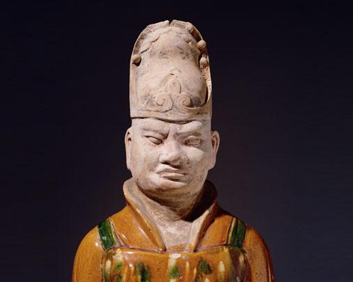 Tri-colour civil official figure, detail-Large