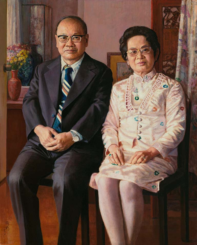 Dr. Hsu Hong-yen and wife by painter Li Mei-shu