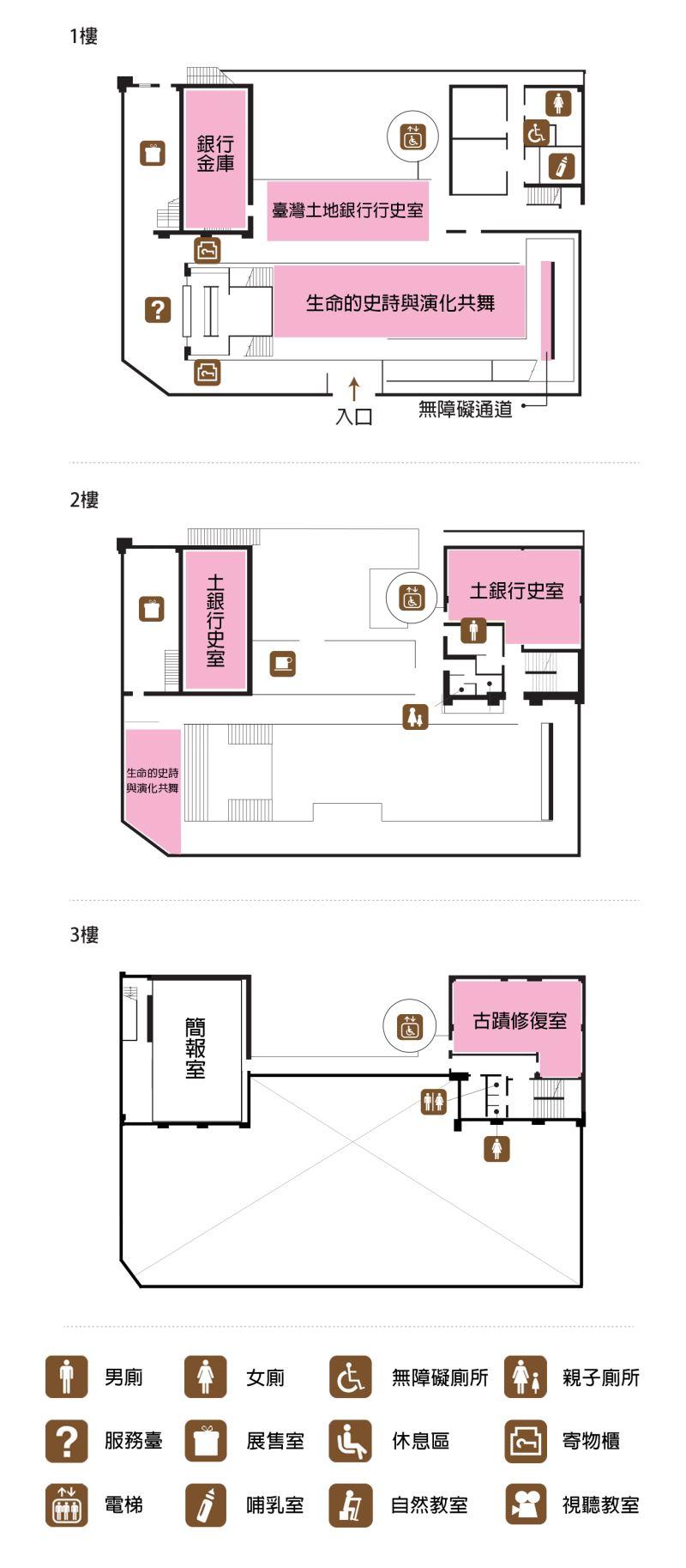 古生物館樓層平面圖