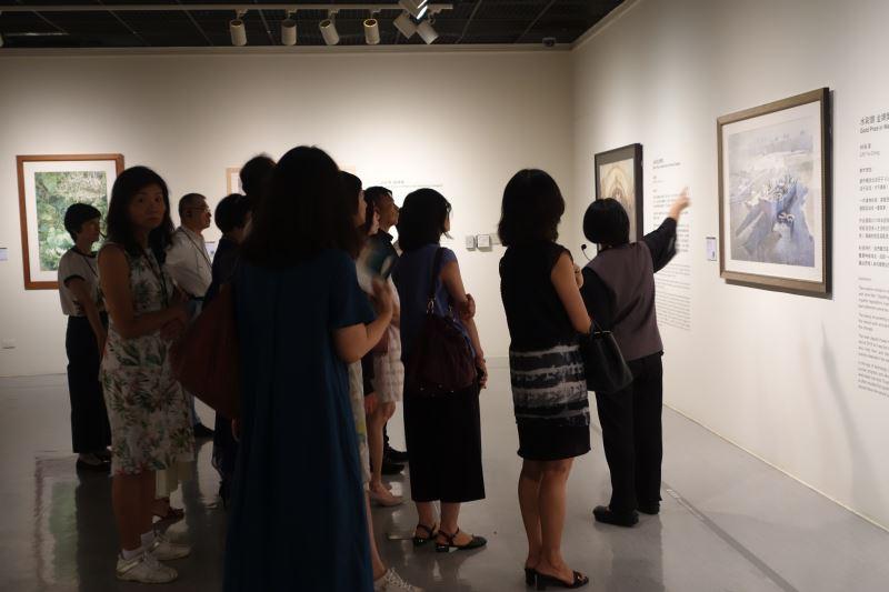 導覽參訪「一〇八年全國美術展」