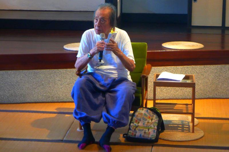 詩人管管2019年出席國立臺灣文學館詩的復興活動(國立臺灣文學館提供)