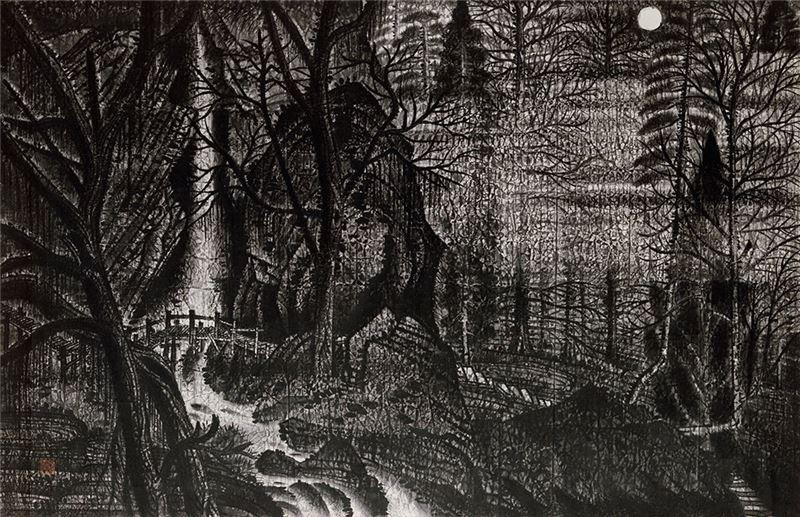 郭雪湖〈寂境〉1933 水墨、紙本 151.5×234.5 cm
