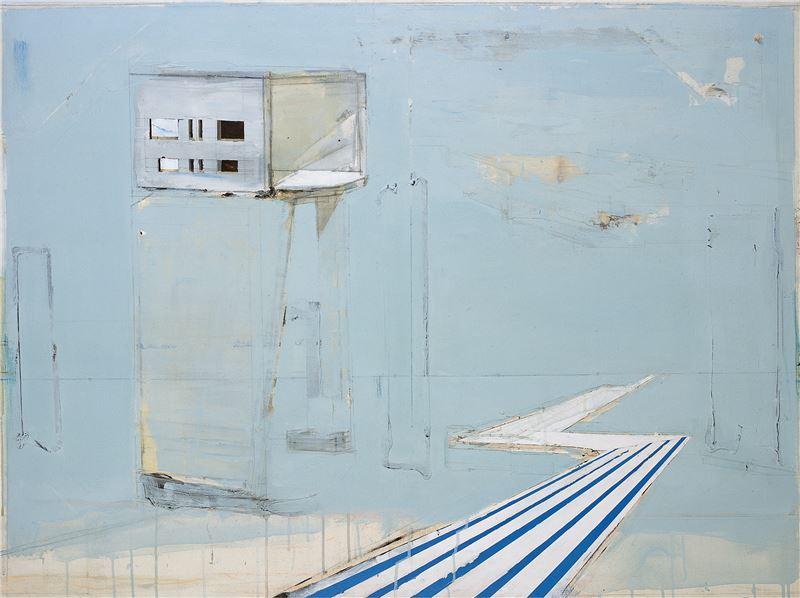 陳建榮〈Sky Blue XI〉2007 壓克力顏料、畫布、複合媒材 97×130 cm