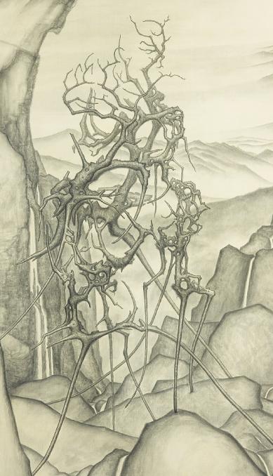 LIN Ju〈Dead-wood Arhat VII〉Detail