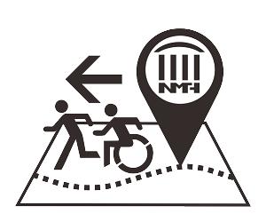 展示教育大樓逃生動線地圖的符號