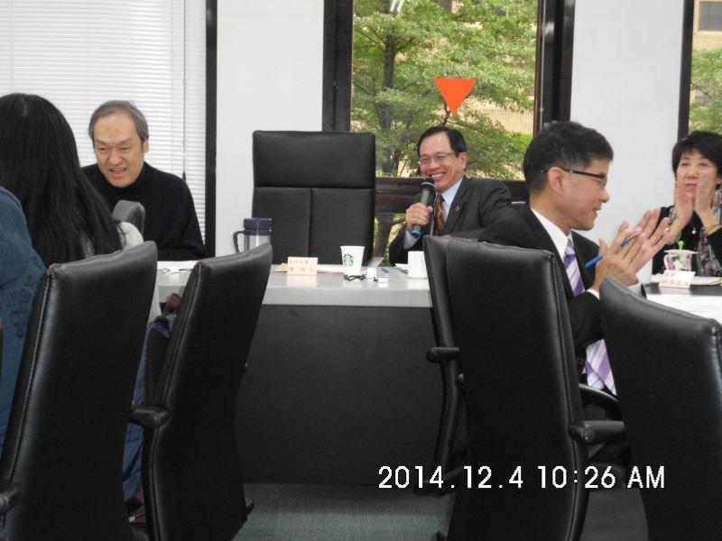 103年度第二場次專家學者諮詢會議-由廖董事長主持(後排中)