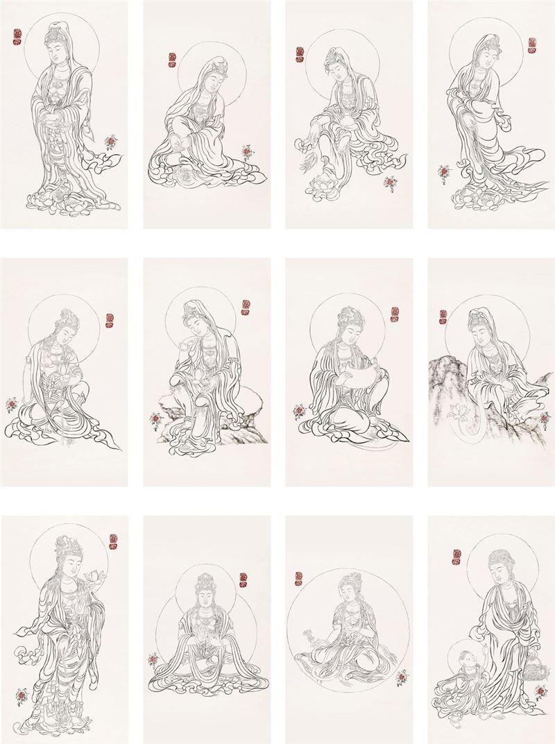 SHI Song〈Thirty-three Guanyin Bodhisttvas Drawings〉Detail