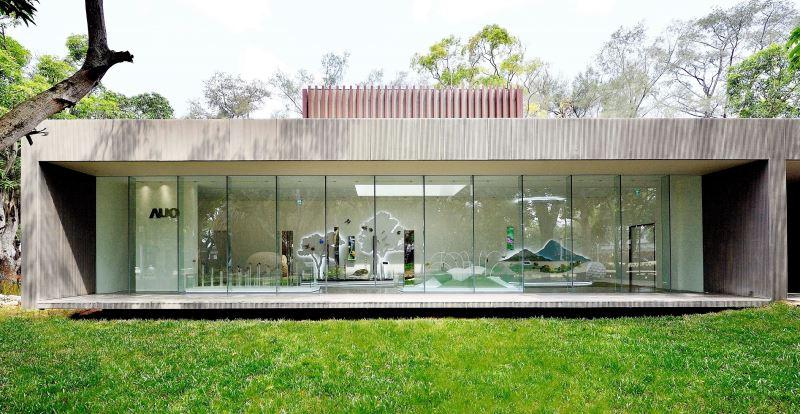 圖3友達微美館外觀強調建材本質的簡約線條,以低調、與自然合一作為設計理念