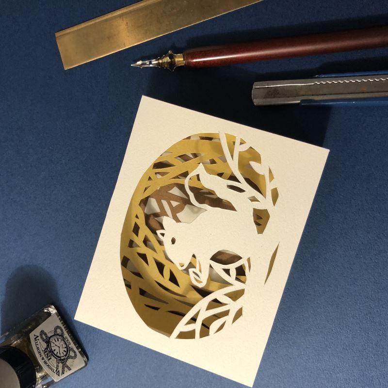 金鼠開箱─紙藝體驗進行式-紙藝相框