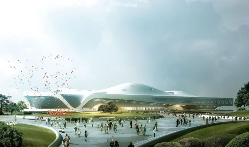 When completed in 2014, the Wei-Wu-Ying Center for the Arts will serve both as an architectural landmark and an art hub that will enrich the cultural scene of the Kaohsiung area.