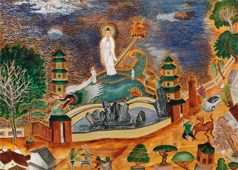 Li Ming-tse〈Lotus Pond in Zuoying〉Detail