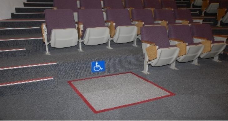一樓演講廳無障礙席位照片