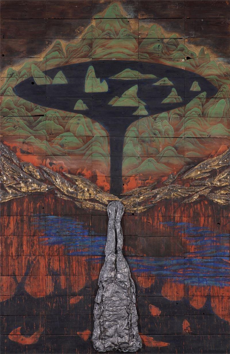 彭賢祥〈殤〉1994 綜合媒材 309×200 cm