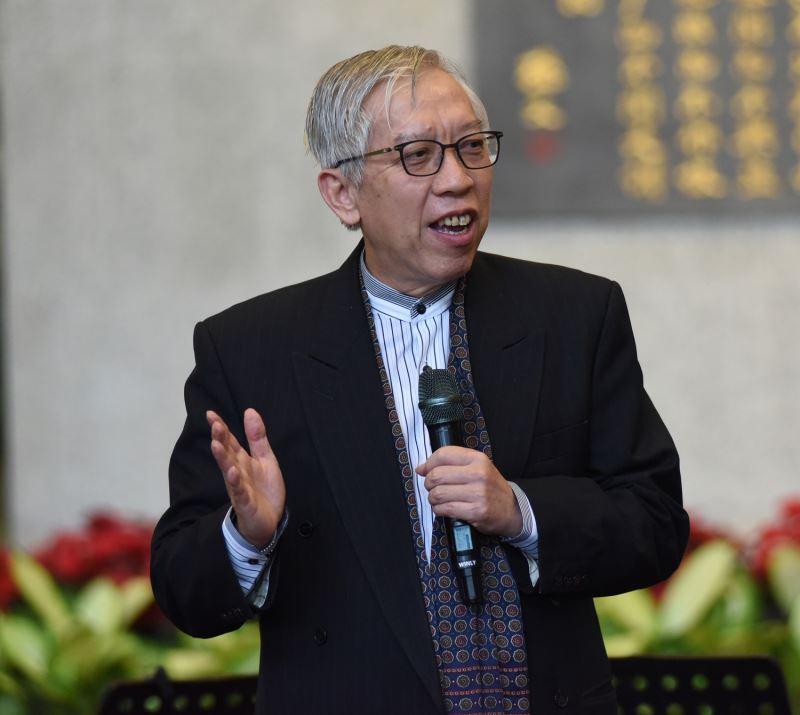 「國父紀念館草地音樂會」國父紀念館梁永斐館長致詞。