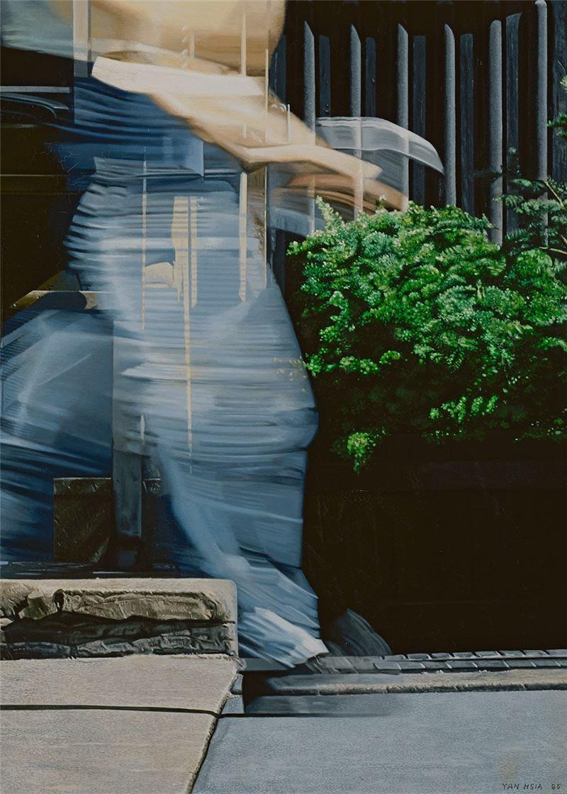 夏陽〈穿牛仔褲的人〉局部圖
