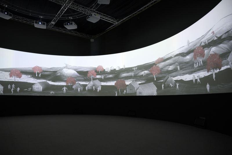 國美館「賴士超x邱智群:山海經」展場 (1)