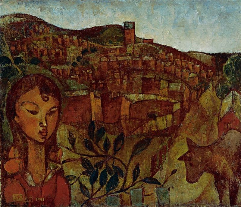 SHIU Wu-yung〈A Street on the Hill (Taiwan)〉1943  Oil on canvas  60.5×71.5 cm