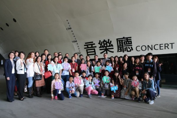 Visiting students were studying music in elementary schools in southern Taiwan.