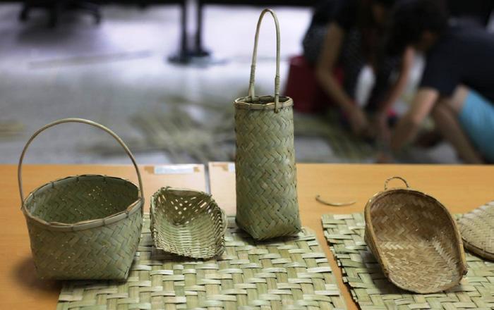 達蘭埠部落將過報竹籐編工藝提升至故事性及藝術性層次