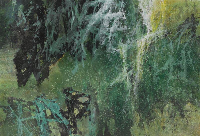 馮鍾睿〈74-60〉1974 水墨、紙本 80.6×118.3 cm