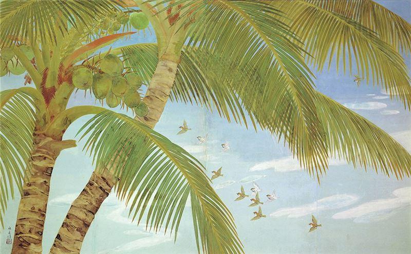 黃水文〈南國初夏〉 1940 膠彩、紙本 153.5×245 cm