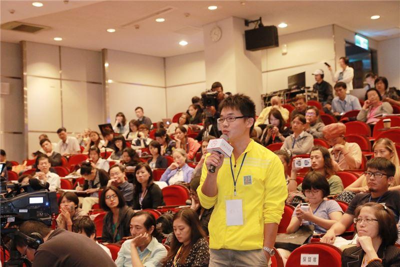 全國文化會議3日舉行文化治理焦點論壇,現場民眾踴躍提問