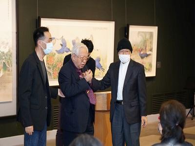 國父紀念館王蘭生館長、歐豪年教授、張克齊教授合影。