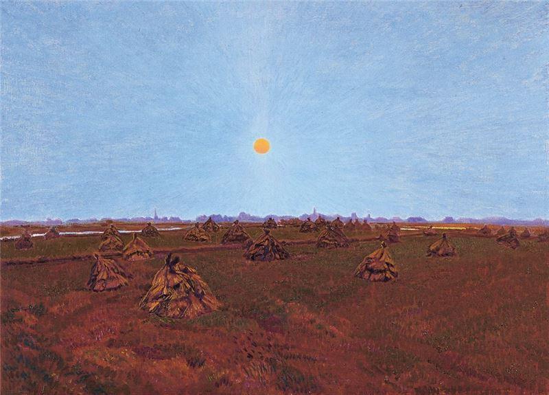 黃朝謨〈營郊(臺灣新營)〉2006 油彩、畫布 52×72 cm