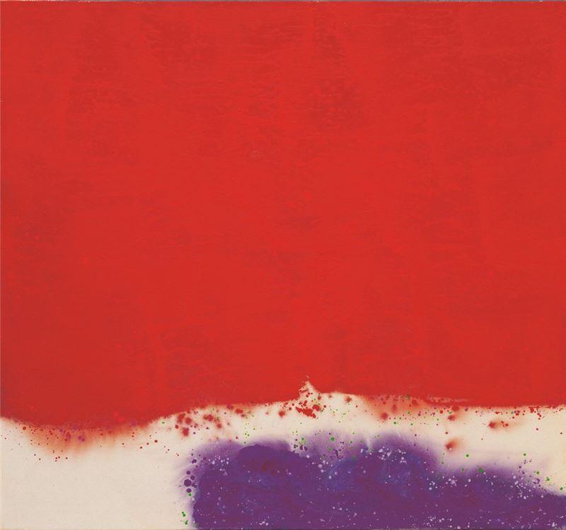 蕭勤〈中國之再生-18〉1990 油彩、畫布 148×160 cm