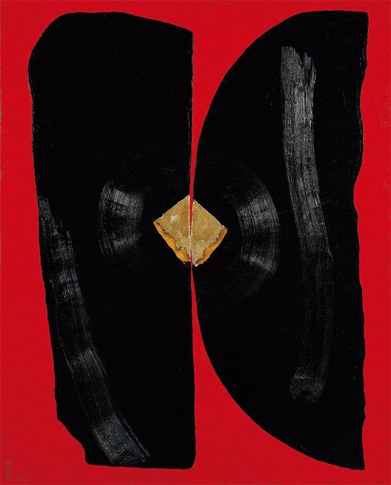劉生容 〈壽〉1967 油彩、金紙、畫布 160×128.5 cm