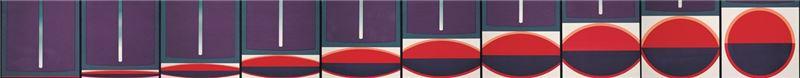 李錫奇〈本位二(圓)〉1969 絹印 44.5×44.2 cm×10