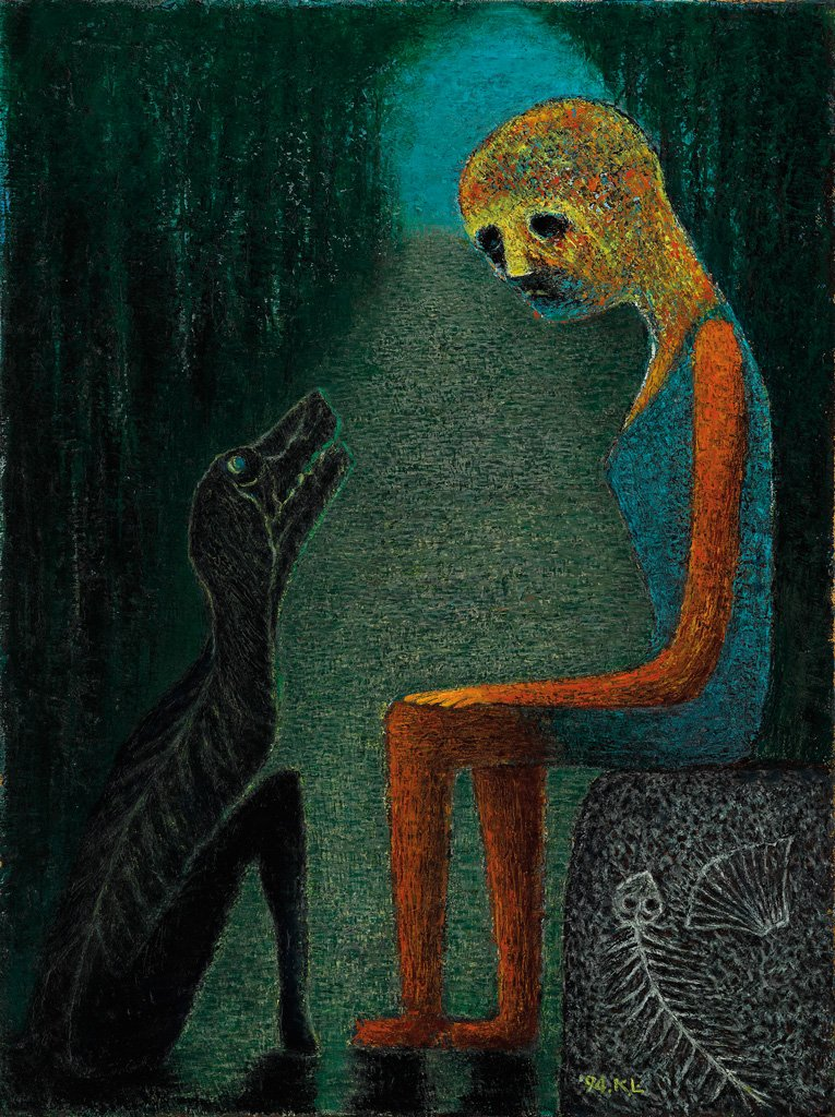 Lin Jia-yan〈Dialogue〉1994 Oil on canvas 69×53.5 cm