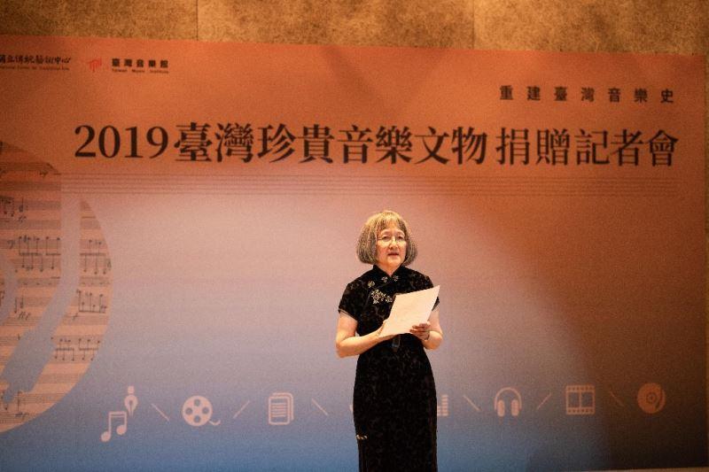 本年度文物捐贈者代表致詞人:陳懋良夫人沈曼女士