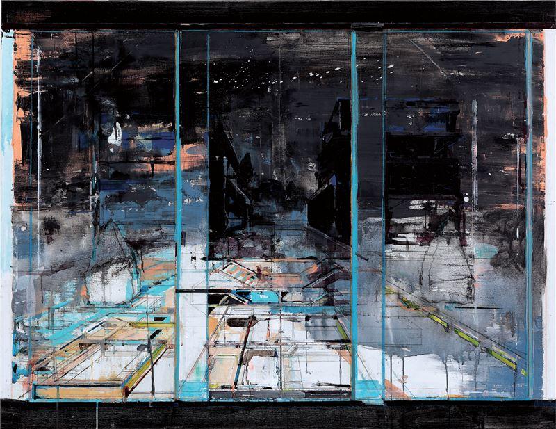 陳建榮〈Landscape 68〉2012 壓克力顏料、畫布、複合媒材 112×148 cm