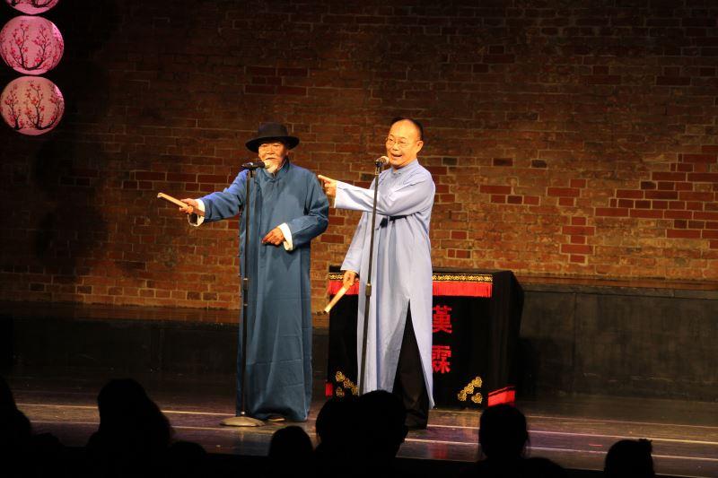 趙中興(右)和王振全(左)兩人是多年的戰友,搭檔演出很多劇碼。