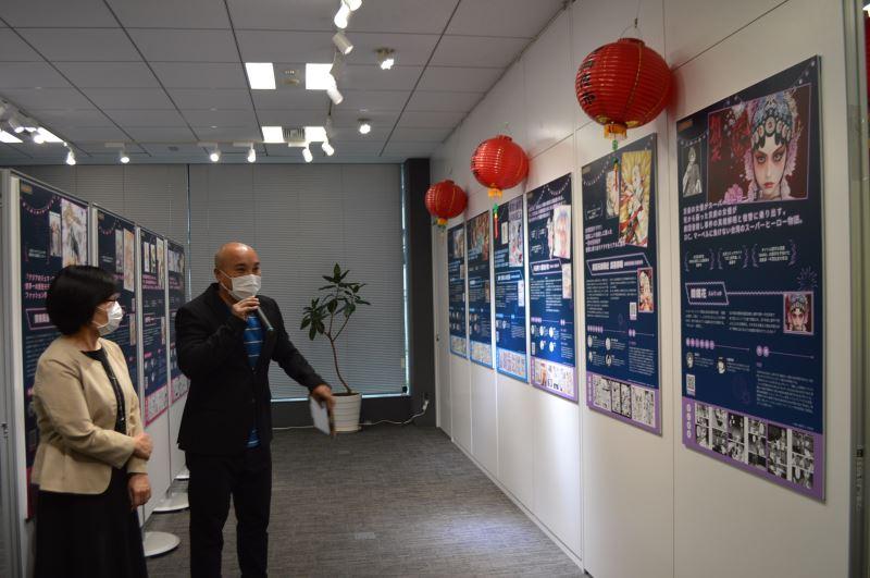 駐日本臺灣文化中心20日舉辦「臺灣漫畫夜市」媒體內覽會,向日本媒體介紹展出的臺灣漫畫