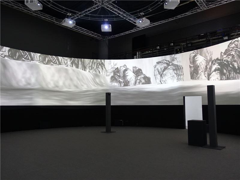 國美館「行.觀.遊.居-互動虛擬水墨創作展」展場