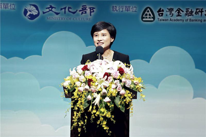 文化部長鄭麗君期待透過打造影視音國家隊,催生文化經濟生態系,進而拓展海內外市場,形塑國家的文化品牌。
