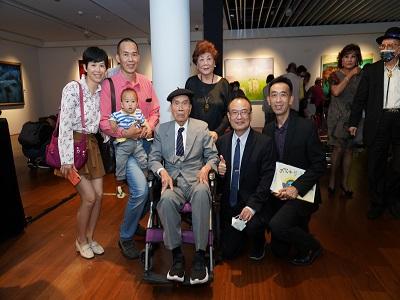 左起:臺灣五月畫會榮譽理事長郭東榮、文化部蕭宗煌政務次長與國父紀念館王蘭生館長合影。