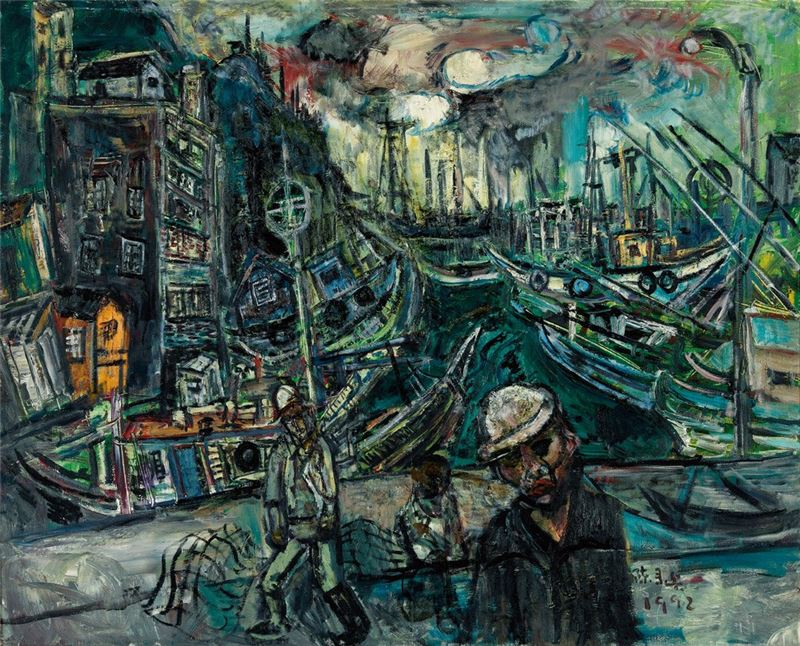 CHEN Lai-hsin〈Wanli Fishing Port〉1992 Oil on canvas 120×162 cm