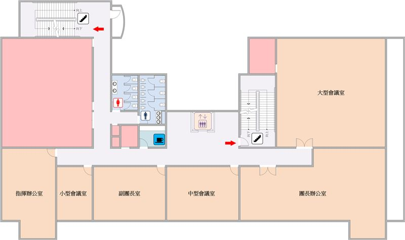 行政大樓三樓平面圖