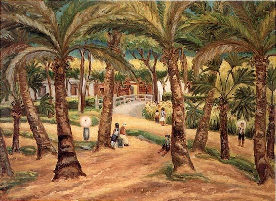 1938 Northern Taiwan – Palm Tree Groves [Taipei Botanical Garden] / 椰林