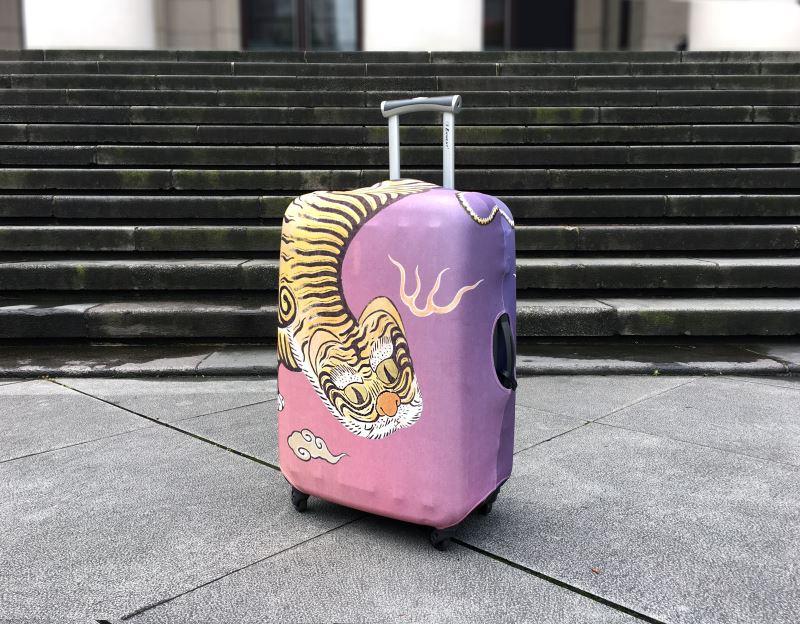 黃虎旗行李箱套(M)