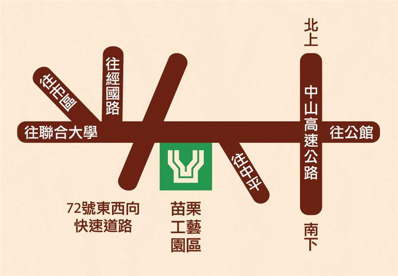 苗栗工藝園區地圖