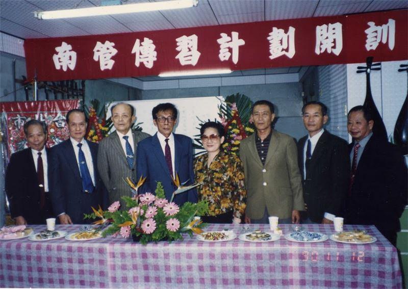 華聲社南管傳習計畫第一期開訓教師合照。